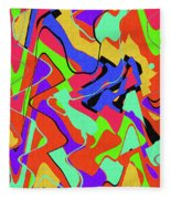 Color Drawing Abstract #3 Fleece Blanket
