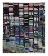 Color Grid - Gold Line Fleece Blanket