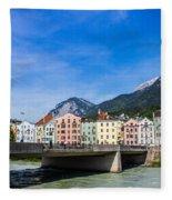 Color In Innsbruck Fleece Blanket