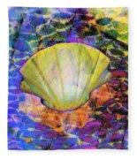 Color In Shell Fleece Blanket