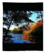 Color Leak Fleece Blanket