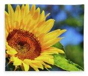 Color Me Happy Sunflower Fleece Blanket