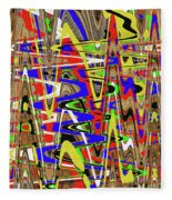 Color Mix Fun Abstract Fleece Blanket