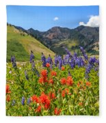 Color Of Summer Fleece Blanket