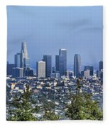 Color Pano Los Angeles California  Fleece Blanket
