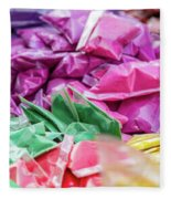 color pigments as an offering in the temple, Chennai, Tamil Nadu Fleece Blanket
