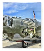 Color Side Wwii B-24j Fleece Blanket