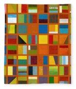 Color Study Collage 66 Fleece Blanket