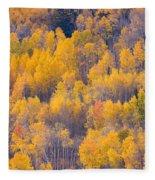 Colorado Autumn Trees Fleece Blanket