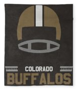 Colorado Buffalos Vintage Football Art Fleece Blanket