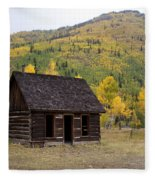 Colorado Cabin Fleece Blanket