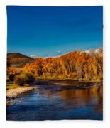 Colorado Cottonwoods In Autumn Fleece Blanket