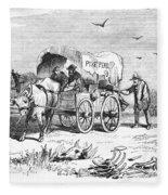 Colorado Gold Rush, 1859 Fleece Blanket