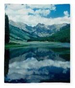 Colorado Lake Fleece Blanket