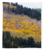 Colorado Mountain Aspen Autumn View Fleece Blanket