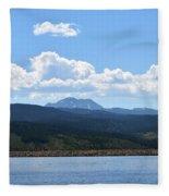 Colorado Mountain Lake Fleece Blanket