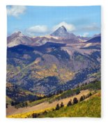 Colorado Mountains 1 Fleece Blanket