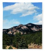 Colorado Mountains Fleece Blanket