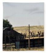 Colorado Past And Present Fleece Blanket