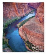 Colorado River Bend Fleece Blanket