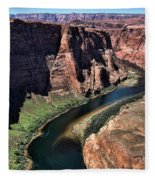 Colorado River Horseshoe Bend  Fleece Blanket