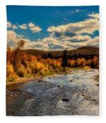 Colorado River In Autumn Fleece Blanket