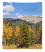 Colorado Rockies National Park Fall Foliage Panorama Fleece Blanket