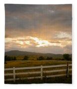 Colorado Rocky Mountain Country Sunset Fleece Blanket