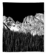 Colorado Rocky Mountains Indian Peaks Fine Art Bw Print Fleece Blanket