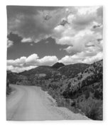 Colorado Shelf Road 1 B-w Fleece Blanket
