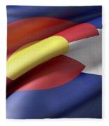 Colorado State Flag Fleece Blanket