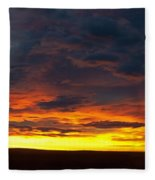 Colorado Sunrise February Fleece Blanket