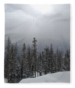 Colorado Winter Peace Fleece Blanket