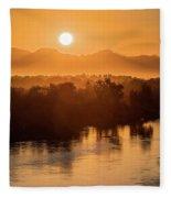 Coloradoriversunrise-yuma Fleece Blanket
