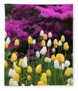 Colorful Spring Fleece Blanket