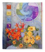 Colordance Of Summer Fleece Blanket