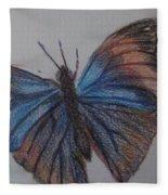 Colored Butterfly Fleece Blanket