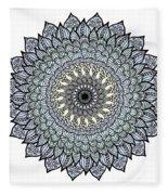 Colored Flower Zentangle Fleece Blanket