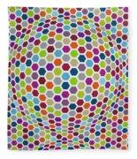 Colored Geometries Fleece Blanket