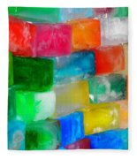 Colored Ice Bricks Fleece Blanket