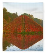 Colored Lake Pyramid Fleece Blanket