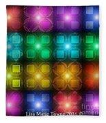 Colored Lights Fleece Blanket