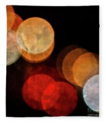 Colored Moons 3 Fleece Blanket