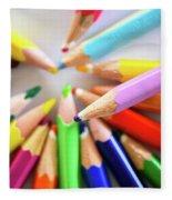 Colored Pencils Fleece Blanket