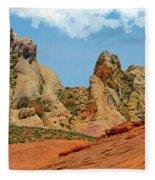 Colored Sandstones Valley Of Fire Fleece Blanket