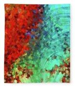 Colorful Abstract Art - Rejoice - Sharon Cummings Fleece Blanket