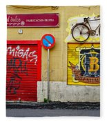 Colorful Advertising In Palma Majorca Spain Fleece Blanket