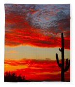 Colorful Arizona Sunset Fleece Blanket