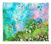 Colorful Art - Enchanting Spring - Sharon Cummings Fleece Blanket
