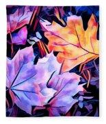 Colorful Autumn Fleece Blanket